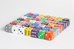 Multicoloured Dice Stock Photo