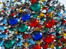 Multicoloured faux jewellery Fotografia Royalty Free