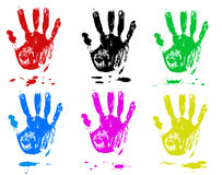 Multicoloured fingers. On a white background. Sets Royalty Free Stock Photos