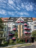 Multicoloured flats in Wroclaw Breslau. Poland royalty free stock photography