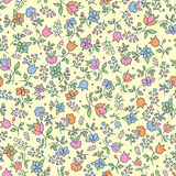 Multicoloured floral seamless pattern Stock Image