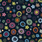 Multicoloured floral seamless pattern Stock Photo