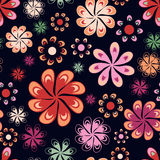 Multicoloured flowers seamless pattern Royalty Free Stock Photography