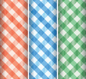 Multicoloured gingham background Royalty Free Stock Photography