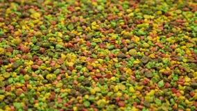 Multicoloured granules feed for aquarium fish