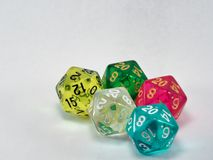 Free Multicoloured Group Of Polyhedral Dice Royalty Free Stock Images - 160508249