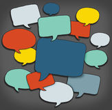 Multicoloured Group of Speech Bubbles Stock Photography