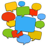 Multicoloured Group of Speech Bubbles Royalty Free Stock Images