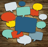 Multicoloured Group of Speech Bubbles Concept royalty free illustration