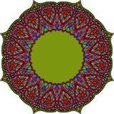 Multicoloured Indian mandala. Tribal element in Boho style isolated on white background. Royalty Free Stock Photography