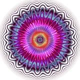 Multicoloured Kaleidoscope Flower Royalty Free Stock Images