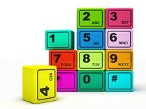 Multicoloured knopen Stock Foto