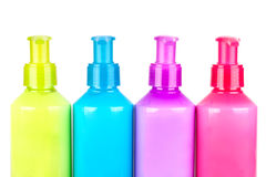 Multicoloured Lotion bottles Royalty Free Stock Photo
