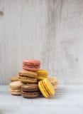 Multicoloured macarons Royalty Free Stock Photos