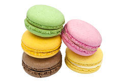Multicoloured macaroon biscuits. Royalty Free Stock Photography