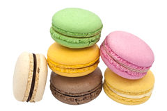 Multicoloured macaroon biscuits. Royalty Free Stock Photo