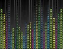 Multicoloured neonachtergrond Royalty-vrije Stock Foto