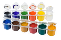 Multicoloured paint gouache Stock Photography