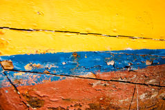 Multicoloured painted wood Royalty Free Stock Photo