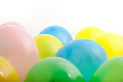 Multicoloured party balloons Stock Photos