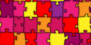 Multicoloured puzzle Stock Images