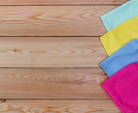 Multicoloured rags for cleaning a top view Royalty Free Stock Photos