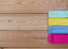 Multicoloured rags for cleaning Royalty Free Stock Photo