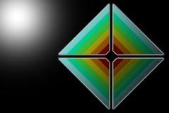Multicoloured rhombus Obraz Royalty Free