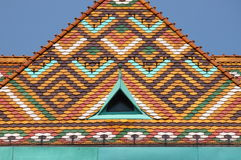 Multicoloured roof of Matthias Church Royalty Free Stock Images