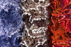 Multicoloured Scarves Stock Photos