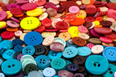 Multicoloured sewing buttons background Royalty Free Stock Photography