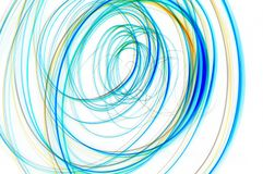 Multicoloured spiral lines Stock Images