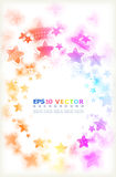Multicoloured stars. Stock Image