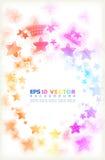 Multicoloured sterren. Stock Afbeelding