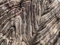 Multicoloured Striped Rocks In Agios Pavlos Crete, Greece Royalty Free Stock Image