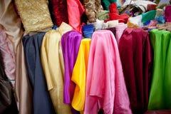 Multicoloured textiel Stock Foto's