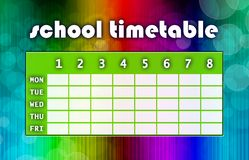 Multicoloured timetable Royalty Free Stock Image
