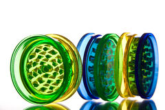 Multicoloured translucent grinders Royalty Free Stock Image