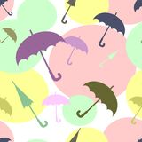 Multicoloured umbrellas Stock Photo