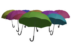 Multicoloured umbrellas background Stock Image
