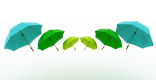 Multicoloured umbrellas Royalty Free Stock Photo