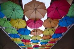 Multicoloured umbrellas Stock Images