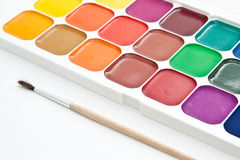 Multicoloured  watercolour paint Royalty Free Stock Photos
