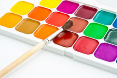 Multicoloured  watercolour paint Stock Image