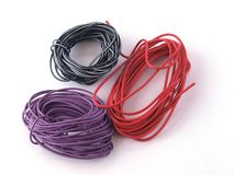 Multicoloured wire Stock Image