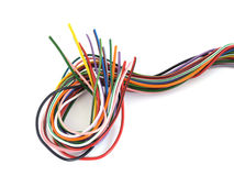 Multicoloured wire. Royalty Free Stock Images