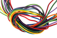 Multicoloured wire on a white background. Royalty Free Stock Photography