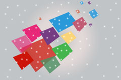 Multicolr square with dots, abstract background Royalty Free Stock Images
