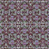Multicolroed Textured Ethnic Ornate Seamless Pattern Stock Photography