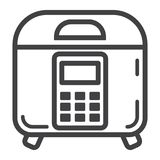 Multicooker line icon, kitchen and appliance. Vector graphics, a linear pattern on a white background, eps 10 Royalty Free Stock Image